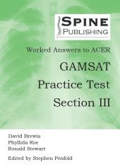 Worked Answers to ACER GAMSAT Practice Test Section III